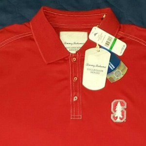 Tommy Bahama Collegiate Series Red Polo Men's L